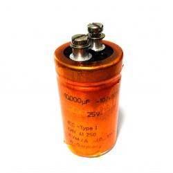 ROE DIN41250 - Filtro Condesatore Audio HiFi 25V 10000μF -10/+50%