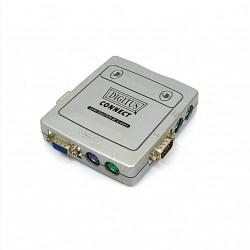 DIGITUS KVM IC-612l - Mini Switch 2-Port PS/2+VGA
