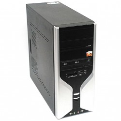 S-TECH PC Intel E2200 - 1Gb DDR2 - 250Gb HDD - Black/Silver