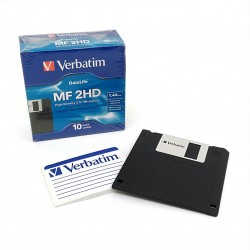 Verbatim 87410 - 1 x Floppy Disk MF2HD 1.44Mb 3.5""