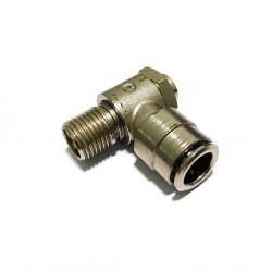 "2 x Attacco Giunto M1/4"" per Tubi Pneumatici 10mm"
