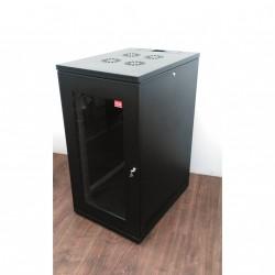 "ICS - Armadio Server Rack con Porta da Pavimento 19"" 24U 110x60cm P80cm - Nero"