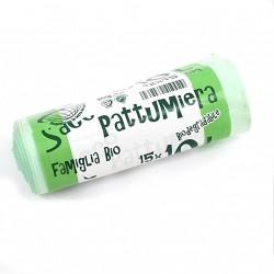 BAGHERRA - 15x Sacco Pattumiera Biodegradabile 10Lt 42x45cm
