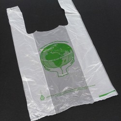 BAGHERRA - 100 x Shopper in Plastica con Manico - Trasparente - 47x27cm