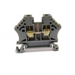 KEMA KEUR 03ATEX2118U - 4x Morsettiera Passante a Vite Grigio 2.5mm2 600V 24A