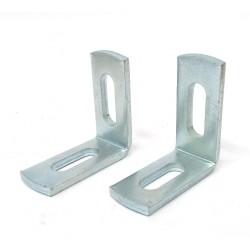 CNC 3D - 2x Staffa di Supporto a L 55x60mm - Acciaio