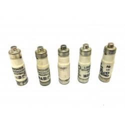 LINDNER 1700.016 - 5x Fusibili Neozed 16A gL 380V - Grigio