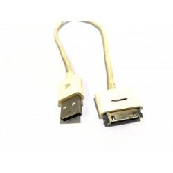 Cavo Sincronizzazione e Ricarica Dati USB Compatibile Apple iPhone 3GS 3 4, iPhone 4 S, 4s 1.1M - Bianco