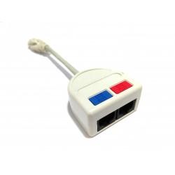 TELEBOX INDUSTRIES T-MOD3-U3 - Sdoppiatore Rete / Telefono 2x RJ45 - Bianco