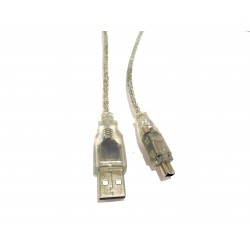 Cavo Dati USB 2.0 A Maschio a USB Mini B 4Pin 1.4M - Trasparente