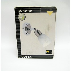 BRILLIANT Faretto da Parete SOFIA Vetro e Metallo E14 Max 1 x 40 Watt Max