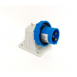 Rosi 1052 - Spina Industriale da Parete 16A - 2P+T - 220/240V - 50/60Hz - IP67