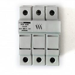 ITALWEBER Portafusibile PCH 3x38 10x38 32A 690V