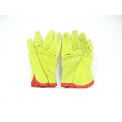 GUANTO in PELLE Bovina Professionale LIME Tg. 9-10