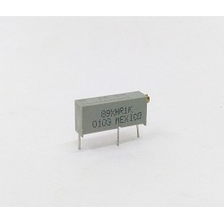 BI 89XHR1K - Multiturn Cermet Trimmer 1K 10% 0.75W THT