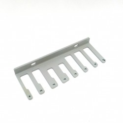 Passacavi Laterale Metallo per Armadio Rack 4U - Grigio