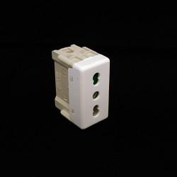 GEWISS GW20203 - Presa Standard Italiano Bivalente 2P+T 16A 250V - Bianco