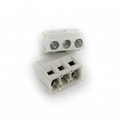 Euroclamp MVS152 - 4 x Morsettiera Verticale PCB 2P Passo 10 17.5A/750V/1.5mmq Grigio