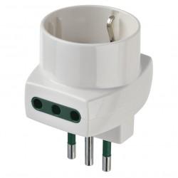 VIMAR 00322 - Adattatore Multiplo 3 Uscite S11+2P11+P30 - 250V Max 1500W - Bianco