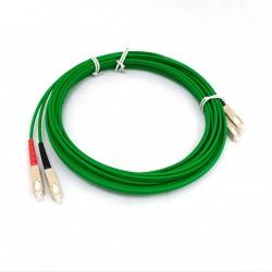 Cavo di Collegamento a Fibra Ottica SC/PC - SC/PC 5Mt - Green