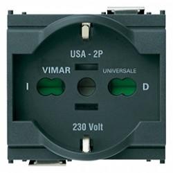 VIMAR 16210 - Presa SICURY 2P+T 16A 250V Universale per Eurospine