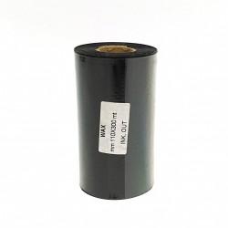 Ribbon TTR CERA RESINA WAX Alta Resistenza Nero - 110mmx300Mt
