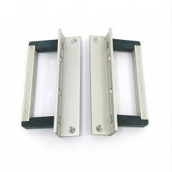 2 x Maniglia in Alluminio e Palstica Montata su Staffa per Rack Mount3U