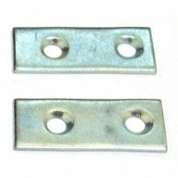 OEM - 2 x Staffe in Acciaio Inox a 2 Fori - Misure 4x1,5
