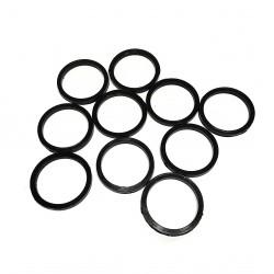 12 x Rondelle in Plastica Nero - 25mm