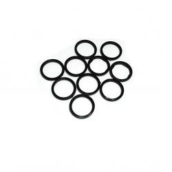 18 x Rondelle in Plastica Nero - 21mm