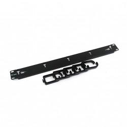 EQUIP 327311 - Passacavi in Metallo 5 Ganci in Plastica per armadio Rack 19 1U - Nero