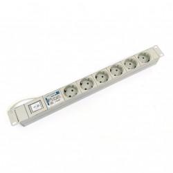 COMPACT 3.302.003.1 - Ciabatta per Armadio Rack 6 Prese ed Interruttore 16A 250V - 1U