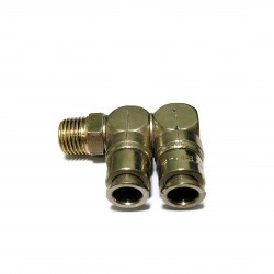 SISTEM-PNEUMATICA - Raccordo Girevole 2L Conico per Tubi 8mm