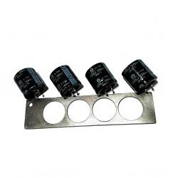 DAEWOO - 4x Condensatore Elettrolitico 2200uF 100V + Supporto in Alluminio