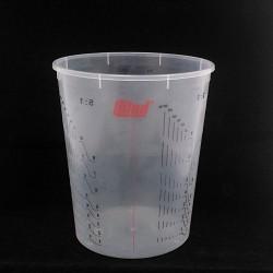 25x COLAD 9410300 - Tazza di Miscelazione Graduata in Plastica Trasparente - 2300ml