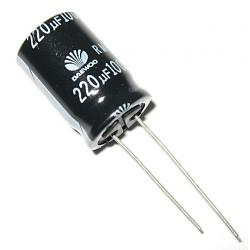 7x Daewoo - Condensatore Elettrolitico 220uF 100V