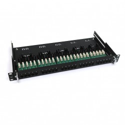 KRONE - Patch Panel Ethernet Telefonico CAT.3 25 Port 1U - Nero