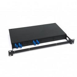 Box Ottico Fibra Rack 1U - Nero