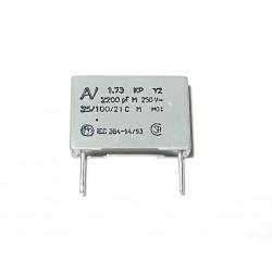 5 x Condensatore a Film R73 Classe Y2 - 2.2nF 2200pF +/-20% 250V