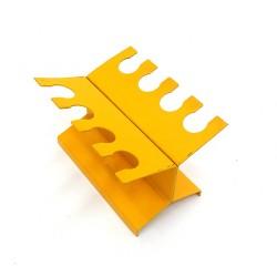 GRAPHOS -Portatimbri Lineare in Metallo - 8 Posti - Giallo