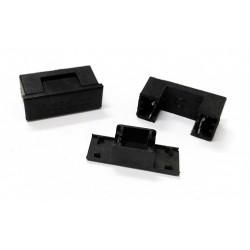 4x Omega Fusibili - Porta Fusibile a Cartuccia PCB + Coperchio Estrattore 5x20 - No Fusibile