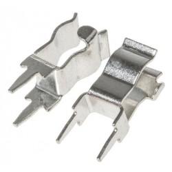 10 x Porta Fusibile a Clip per PCB THT - 5x20mm - 6.3A