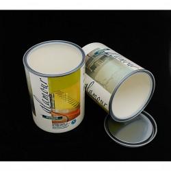 POLIBOX ART.109/144 - 7 x Contenitore in Plastica con Coperchio in Metallo per Vernici - 1000ml