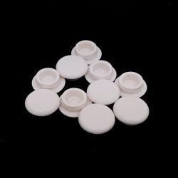 10 x Tappo Copriforo in Gomma Bianco - Ø 12mm