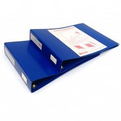KING MEC 347/A4 - 2 x Portatabulati senza Custodia LINEA DATA RING - Blu