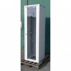 """Armadio Server Rach 19"""" con Porta in Vetro 42U - 600x600x2000mm - Grigio Chiaro"""