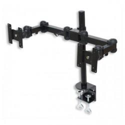 Supporto Snodabile Porta Monitor da Tavolo/Scrivania LCD/LED a Morsetto - Nero - Dual Monitor Vesa