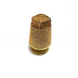 4x Silenziatori Pneumatici Ingresso G 1/4 Maschio 10bar in Bronzo