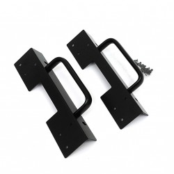 Coppia Staffa con Maniglia per Montaggio Rack - Nero