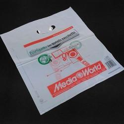 BAGHERRA - 580 x Shopper Biodegradabile Compostabile EN 13432 - 41X35CM